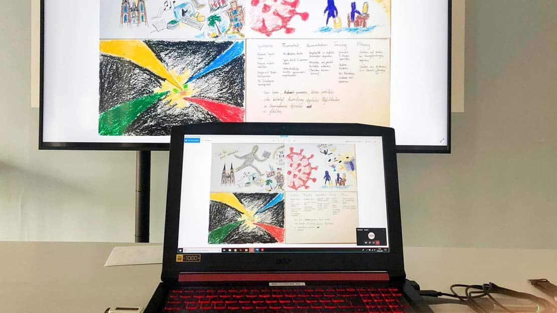 Eindrücke von den Kunstwerken aus dem digitalen Seminar.