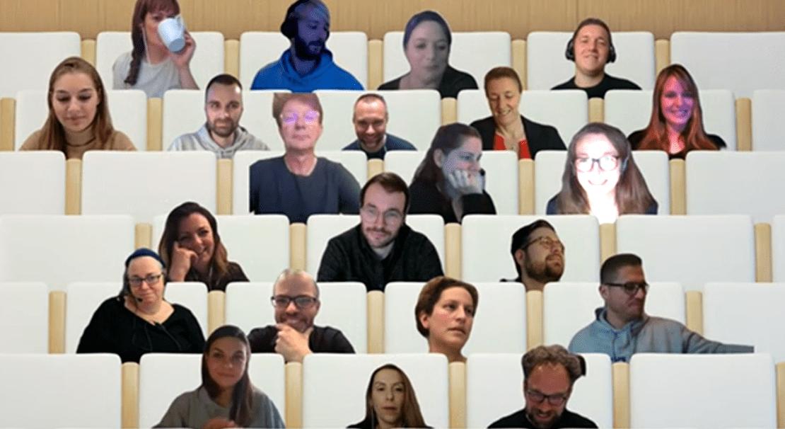 Screenshot aus dem Video-Call bei Microsoft Teams zum Studienstart an der Quadriga Hochschule Berlin.