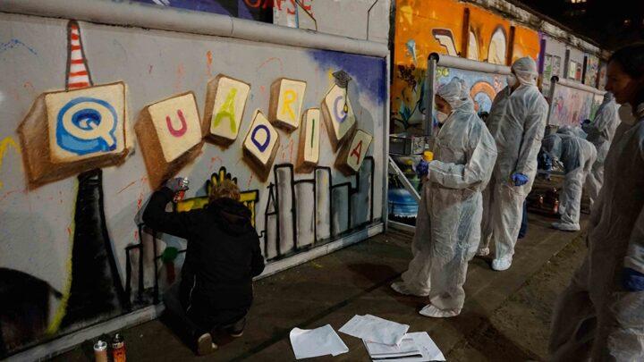 Zu den ersten Highlights beim Studienstart gehören Aktivitäten wie diese Graffiti-Session... (Foto: Legler / Quadriga)