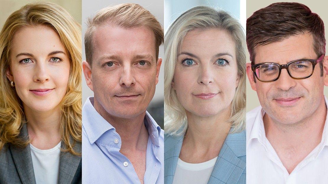 Collage aus vier Profilbildern der neuen Beiratsmitglieder.