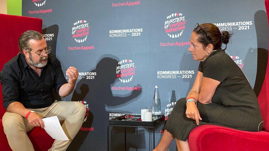 Dirk Benninghoff und Monika Schaller im Podcast-Gespräch (Foto: Privat)